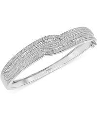 Effy Collection - Diamond Bangle Bracelet (1-3/4 Ct. T.w.) In 14k Gold & White Gold - Lyst