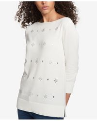 Tommy Hilfiger - Embellished 3/4-sleeve Sweater - Lyst