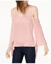 Kensie - Tie-sleeve Cold-shoulder Blouse - Lyst