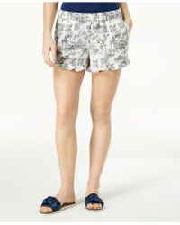 Maison Jules - Ruffled-cuff Shorts, Created For Macy's - Lyst