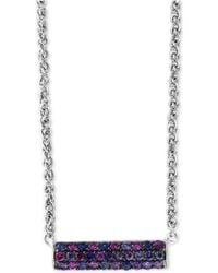 "Effy Collection - Splash By Effy® Purple Sapphire Horizontal Bar 18"" Pendant Necklace (1 Ct. T.w.) In Sterling Silver - Lyst"