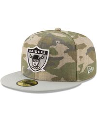 KTZ - Oakland Raiders Vintage Camo 59fifty Fitted Cap - Lyst