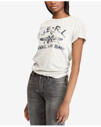 Polo Ralph Lauren - Graphic Cotton T-shirt - Lyst
