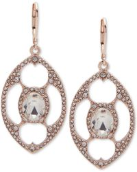 Anne Klein | Crystal Openwork Orbital Drop Earrings | Lyst