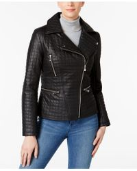INC International Concepts - Quilted Faux-leather Moto Jacket - Lyst