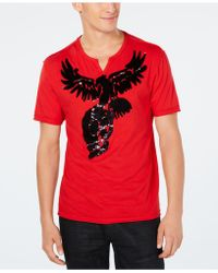 INC International Concepts - Skull Eagle Reversible Sequin Graphic T-shirt, Created For Macy's - Lyst