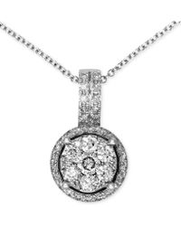 Effy Collection - Diamond Circle Cluster Pendant (3/8 Ct. T.w.) In 14k White Gold - Lyst