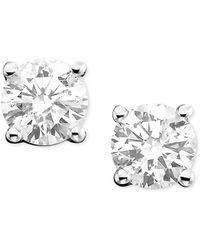 Macy's - Diamond Stud Earrings In 14k White Gold Or Gold (1-1/2 Ct. T.w.) - Lyst