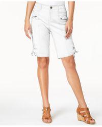 Style & Co. - Zipper Bermuda Cargo Shorts, Created For Macy's - Lyst