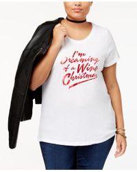 Sub_Urban Riot - Trendy Plus Size Holiday-print T-shirt - Lyst