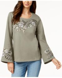Style & Co. - Cotton Embroidered Top, Created For Macy's - Lyst