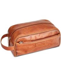 Perry Ellis | Men's Distressed Faux-leather Travel Kit | Lyst