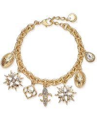Charter Club - Gold-tone Crystal Charm Bracelet, Created For Macy's - Lyst