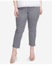 RACHEL Rachel Roy - Trendy Plus Size Slim-leg Cropped Gingham Pants - Lyst
