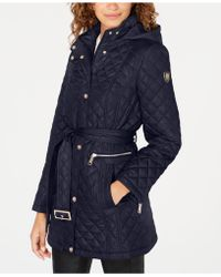 Vince Camuto - Belted Quilted Coat - Lyst