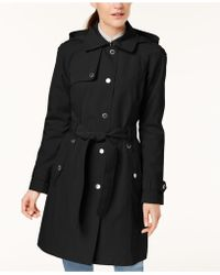 London Fog - Hooded Snap-front Trench Coat - Lyst