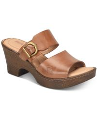 Born - Carrabelle Wedge Sandals - Lyst