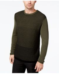 Daniel Hechter | Men's Colorblocked Textured-knit Merino Wool Jumper | Lyst