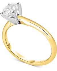 Macy's - Diamond Solitaire Engagement Ring In 14k White Gold (1 Ct. T.w.) - Lyst