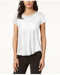 Alfani - Top, Short-sleeve High-low Tee - Lyst
