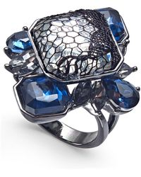 INC International Concepts - I.n.c. Hematite-tone Stone & Lace Statement Ring, Created For Macy's - Lyst