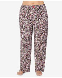 Ellen Tracy - Plus Size Printed Pajama Pants - Lyst