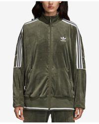 b1c67d28de55 adidas Originals - Striped Stretch-velvet Track Jacket - Lyst