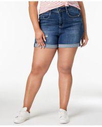 Seven7 - Seven7 Trendy Plus Size Denim Shorts - Lyst