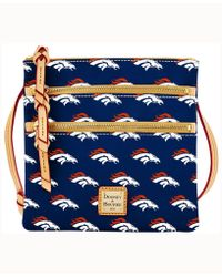 Dooney & Bourke - Denver Broncos Triple-zip Crossbody Bag - Lyst