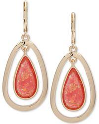 Anne Klein - Colored Stone Orbital Drop Earrings - Lyst