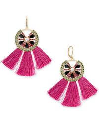 INC International Concepts - I.n.c. Gold-tone Multi-pavé & Stone Watermelon Tassel Drop Earrings, Created For Macy's - Lyst