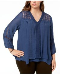 Style & Co. - Plus Size Layered-hem Top, Created For Macy's - Lyst