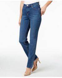 Lee Platinum - Petite Gwen Straight-leg Jeans - Lyst