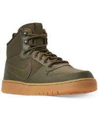 b2f76244f4646 Lyst - Nike Mens Roshe Run Mid Winter Outdoor Casual Sneakers From ...