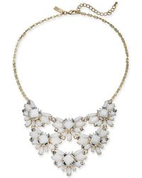 """INC International Concepts - I.n.c Gold-tone Stone & Crystal Cluster Statement Necklace, 18"""" + 3"""" Extender, Created For Macy's - Lyst"""