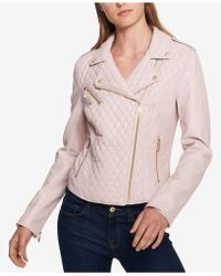Tommy Hilfiger - Quilted Faux-leather Moto Jacket, Created For Macy's - Lyst