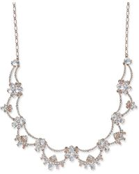 Kate Spade - Rose Gold-plated Crystal Scalloped Collar Necklace - Lyst