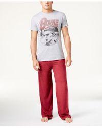Bioworld - Men's David Bowie Pajama Set - Lyst