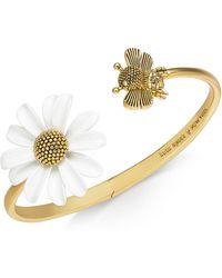 Kate Spade - Gold-tone Bee & Flower Cuff Bracelet - Lyst