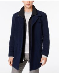 Calvin Klein - Coat, Coleman Zipped Bib Coat - Lyst