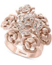 Effy Collection - Diamond Bouquet Ring (1/3 Ct. T.w.) In 14k Rose Gold - Lyst