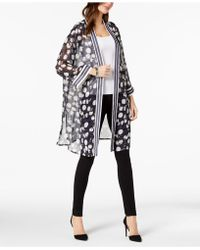 Alfani - Petite Long Printed Kimono Jacket, Created For Macy's - Lyst