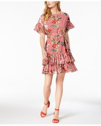 Julia Jordan - Floral Print Ruffled Dress - Lyst