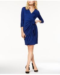 INC International Concepts - Printed Faux-wrap Dress, Created For Macy's - Lyst