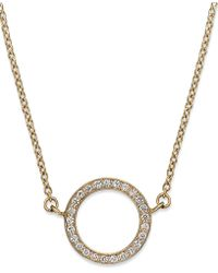 Macy's - Yelloratm Diamond Open Circle Pendant Necklace In Yelloratm (1/6 Ct. T.w.) - Lyst