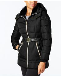 Vince Camuto   Faux-leather-trimmed Puffer Coat   Lyst