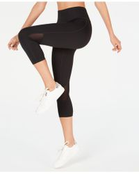 1aa2709c7d608 Calvin Klein - Performance Cropped Mesh-inset Leggings - Lyst