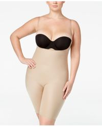 6c53b326da3 Spanx - Midnight Plus Size Firm Control Open-bust Bodysuit 10048p - Lyst