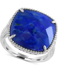Effy Collection | Lapis Lazuli Drama Ring (7-2/3 Ct. T.w.) In Sterling Silver | Lyst