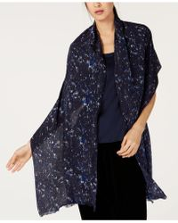 Eileen Fisher - Printed Silk Wrap - Lyst
